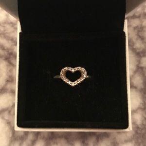 "Pandora ""Be my Valentine"" Heart Ring"